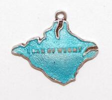 Vintage Isle Of Wight Enamel Sterling Silver Bracelet Charm  by TLM