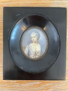 19th/20th century Italian Portrait miniature on wafer of Madam Pompdour Bouchet