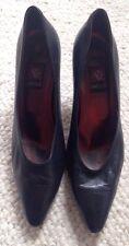 Anne Klein High Heel Shoes Dark Blue Sz 8 Made In Italy Women's