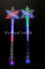 Light-Up Princess Wand Frozen Crystal LED Fairy Magic Snow Flakes Frozen