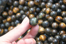 1/2 lb Bulk Lot TIGER EYE Blue & Gold Flash Crystal BALL Healing Reiki Tumble