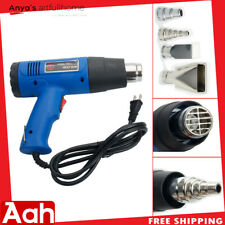 AHD 1500W Dual-Temperature Heat Gun& 4pcs Stainless Steel Concentrator Tips Blue