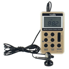Mini FM/AM Pocket Radio Dual Band Radio Broadcasting Receiver with Earphone New