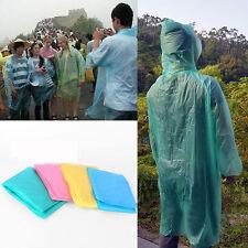 Practical Unisex Travel Outdoor Disposable Rain Coat Hooded Raincoats Emergency