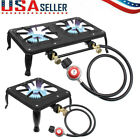 Portable Propane Burner Gas Cooker Outdoor Camping Stove Grill w/ Regulator Hose photo