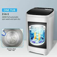 Washing Machine 21LBS Twin Tub Spiner Dryer Compact Portable Laundry Washer t 17
