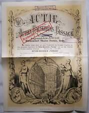 Berlin 1870 Hundert Taler Aktie des Actien Bauvereins Passage Wertpapier Stich