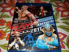 WWE Blu Ray The Best of Raw and SmackDown 2011 3 Disc Set CM Punk John Cena Rock