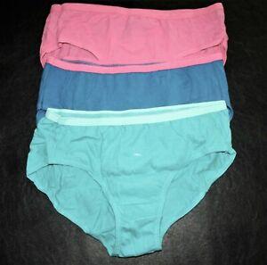 828T2-L44 Hanes Cotton Bikini-Cut Panties 3-Pack Girl's Size 14