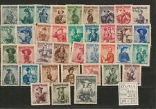 Briefmarken, Österreich 1948, Trachtensatz postfrisch komplett