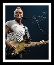 STING AUTOGRAPHED SIGNED & FRAMED PP POSTER PHOTO 2