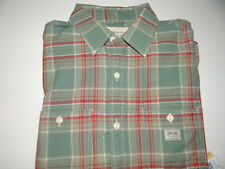 Polo Ralph Lauren Men's Denim & Supply Green Red 100% Cotton S/S Shirt Sz M