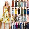 UK BOHO Womens Ladies Summer Beach Casual Midi Dress Holiday Strappy Sun Dresses