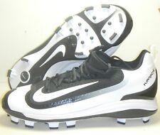 Nike Air Huarache 2KFilth Elite Low MCS Baseball Cleats Black White Size 10.5