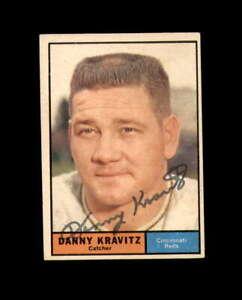 Danny Kravitz Signed 1961 Topps Cincinnati Reds Autograph