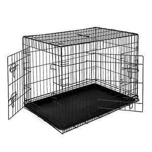 B-Ware: Hundetransportkäfig Tiertransportbox Hundebox Größe (XL) 92x58x64 cm