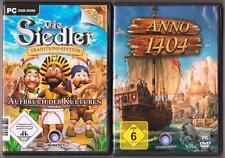 ANNO 1404 + Die Siedler Aufbruch der Kulturen Sammlung PC Spiele