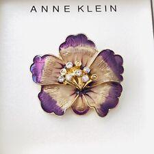 Anne Klein Enamel Lapel 3 Pin Set Lemonade Palm Trees Umbrella Crystals