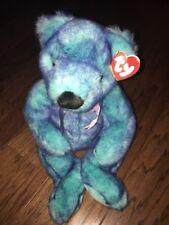 "Classic Ty Bluebeary Bear Beanie 16"" Plush Retired 1999"
