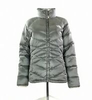 Women's The North Face 550 Puffer Jacket In Grey Size L UK 12