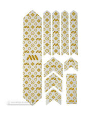 All Mountain Style Honeycomb MTB Frame Guard Protection Stickers Couture Gold XL
