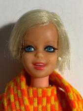 1967 Barbie TNT Twiggy Doll - wearing #1727 Twigster Dress, Scarf & Boots
