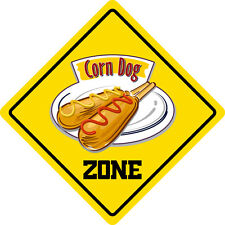 "*Aluminum* Corn Dog Zon Funny Metal Novelty Sign 12""x12"""