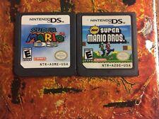Super Mario 64 + Super Mario Bros Lot Nintendo DS Authentic Cleaned Tested