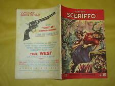 IL NUOVO SCERIFFO N°39  FEBBRAIO 1958 SUL RETRO PUBBLICITA' COLT