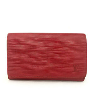 Louis Vuitton Epi Porte Monnaie Billets Tresor Red Leather Bifold Wallet /E0746