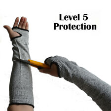 Grey Safety Anti Cut Heat Resistant Sleeves Arm Guard Protection Armband Glove