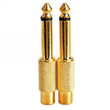 10pcs Gold plated 6.35mm (1/4 Inch) Mono Plug to RCA Jack Adaptor