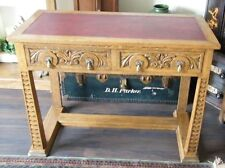 RARE  ANTIQUE GOTHIC ARTS & CRAFT OAK CARVED CHURCH DESK HALL TABLE SIDE TABLE