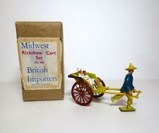 TAYLOR BARRETT Lead Toy Soldier RICKSHAW CART BOXED SET Britains Johillco
