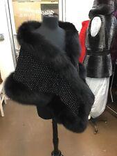 BLACK FOX CRYSTALS RHINESTONES SHAWL WRAP SHRUG CAPE BRIDAL NEW GORGEOUS