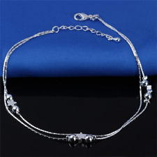Fashion Lady 925 Silver Lucky Beads Anklet Beach Anklet Jewelry