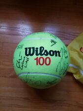 Us Open Jumbo Tennis Ball Autographed By Roger Federer, Angelique Kerber, The