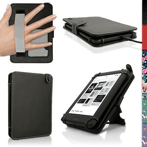 Etui Housse Cuir PU pour Kobo Glo HD 2015, Touch 2 & Aura Support Coque Case