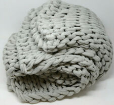 Madison Park Chunky Double Knit Throw Blanket in Gray