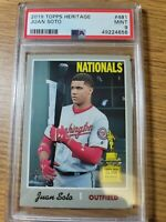 2019 Topps Heritage Juan Soto Washington Nationals #481 PSA 9 MINT
