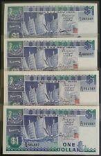 Singapore $1 Ship Note GKS D14 & HTT D14~D20 Full Set UNC