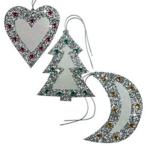 75 Jewelled & Glittered Christmas Gift Tags Studded with Gemstones (EG)