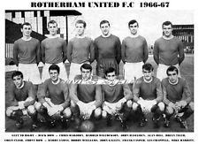 ROTHERHAM UNITED F.C.TEAM PRINT 1966-67 (GALLEY/CASPER/TILER)