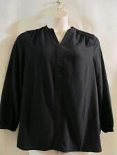 SUSAN GRAVER~ Long Sleeve Black Tunic Top~Size 10 (M)~New Without Tags
