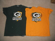 GREEN BAY PACKERS NFL FOOTBALL G FORCE SHIRTS GOLD GREEN XL SWEET GO PACK GO w@@
