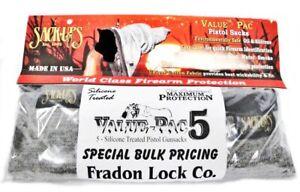 """Sack-Ups Pistol Sack Ups Value Pack 5 208 Bulk Firearm Protect Cover Sleeve 10"""""""