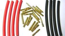 Pack.of (5) 2mm gold bullet connectors including heat shrink.