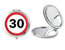 30 Strada Firmare Specchio compatto ideale onorevoli trentesimo compleanno madri Giorno Regalo T60
