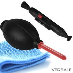 Blasebalg Pinsel Microfasertuch Kamera Objektiv Reinigung Reinigungsset Sensor