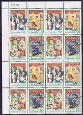 1997 Circuses of Australia - MUH Top Left Corner Block of 16